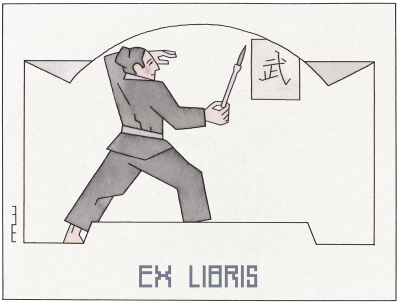 10 Ex libris Martial arts
