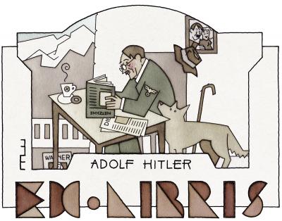 6 Ex libris Adolf Hitler