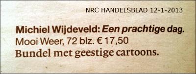 Aankondiging NRC 2013